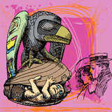 newborn and raven poster