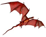 Red Dragon in Flight