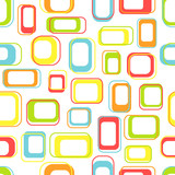 Fototapety Seamless retro squares in bright colors