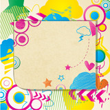 coloured doodle notepad poster