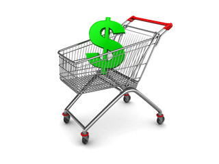 dollar sign in shopping cart