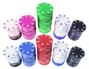 Stacks of Poker Chips