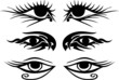 Eyes Tattoo collage (Vektor)