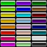 Fototapety Vector set of glossy rectangular varicolored buttons