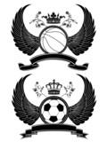 Vector heraldic sport pattern poster