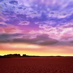 荒野の夕焼