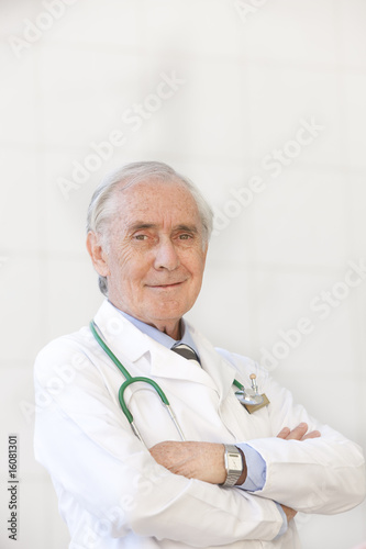 portrait of senior doctor