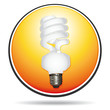 Energy saving lightbulb orange icon