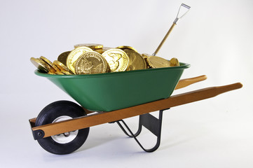 Green wheel with gold coins