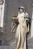 statua di Santa Scolastica