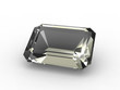 Emerald cut diamond zirconium