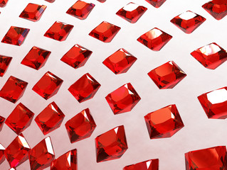 Background array of square garnets