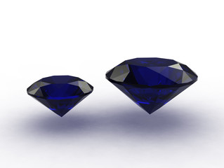 Set of two beautiful sapphire gemstones