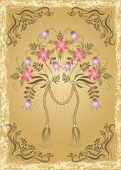 Congratulatory card in retro style