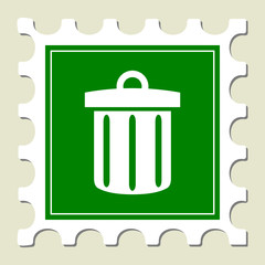 Trash Sign Stamp
