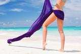 Woman with sarong poster