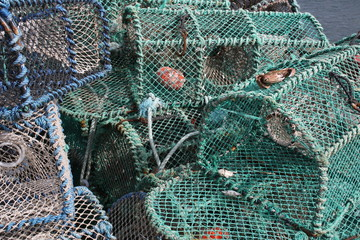 Lobster Pots at a North East Coastal Town