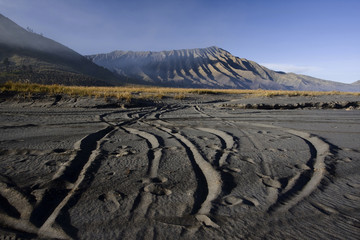 Mt. Bromo volcano, Sea of Sand.
