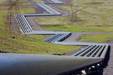 Huge Industrial Pipes at a Geothermal Power Station in Iceland poster