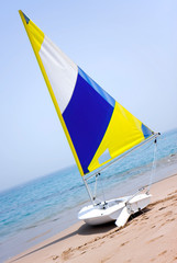 Sailboat on the beach