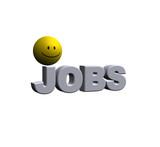 das wort jobs und ein smiley - 3d illustration poster
