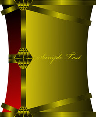 Satin Gold and Red All-Purpose Background
