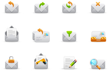 Philos icons - set 7 | Emails