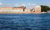 Main building of St.Petersburg State University across the Neva poster