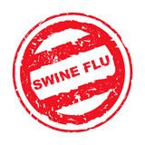 Used Swine Flu stamp poster