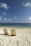 Maledives, Gan, Chairs on beach