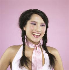 Das Lachen einer jungen Frau