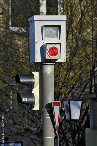 Traffic light and speed camera