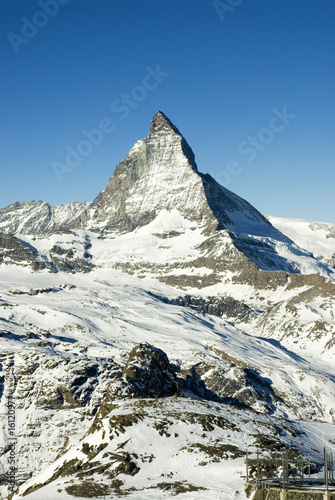 Switzerland, Matterhorn, mountain range