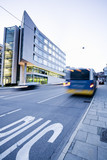 Germany, Stuttgart, bus traffic