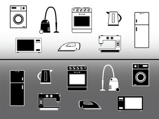 Electric devices. Home appliance design elements
