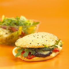 Gemüse Sandwich, close-up