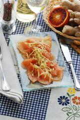 Salmone allo zenzero - Antipasti della lombardia