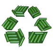 Recycling Symbol Made of Batteries