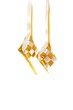 Pair of hanging yellow ribbon ketupat