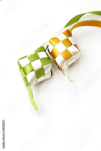 Pair of ribbon ketupat