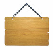 Wood notice board