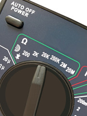 digital multimeter with switch for different measurement