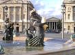 Leinwanddruck Bild - sculpture fontaine place de la concorde & madeleine