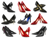 Collection of woman shoes
