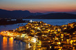 Greek island Poros at night, Greece, 2009