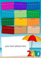 calendario 2010 Summer