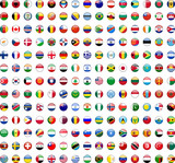 Flags of the World buttons (x195)