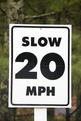 Close up of a road sign.