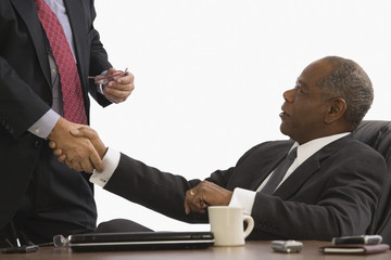 CEOs shaking hands