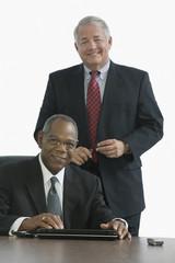 Portrait of two CEOs